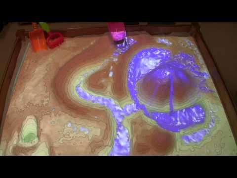 Amazing augmented reality Kinect sandbox.