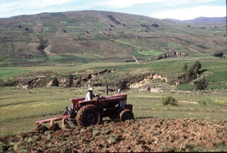 tractor farming and soil tilling