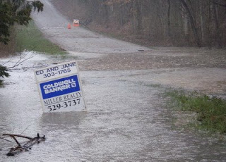 Floodestate, and a sign for LRRD.