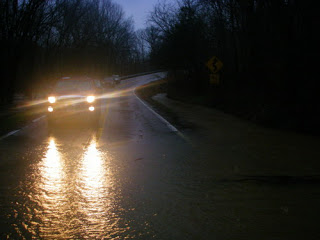 Water (and Emriver orders) flood Carbondale.