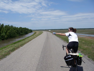 Mississippi levees on a bicycle.