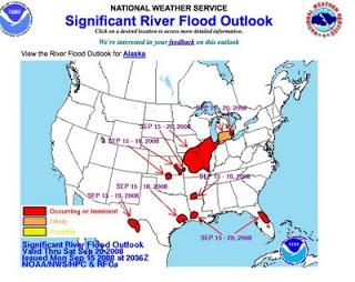 Hurricane Ike aftermath in Texas.