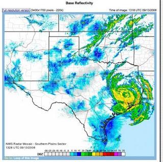 Ike crosses Houston