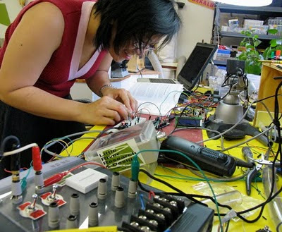 Lily's first circuit, R&D at LRRD.