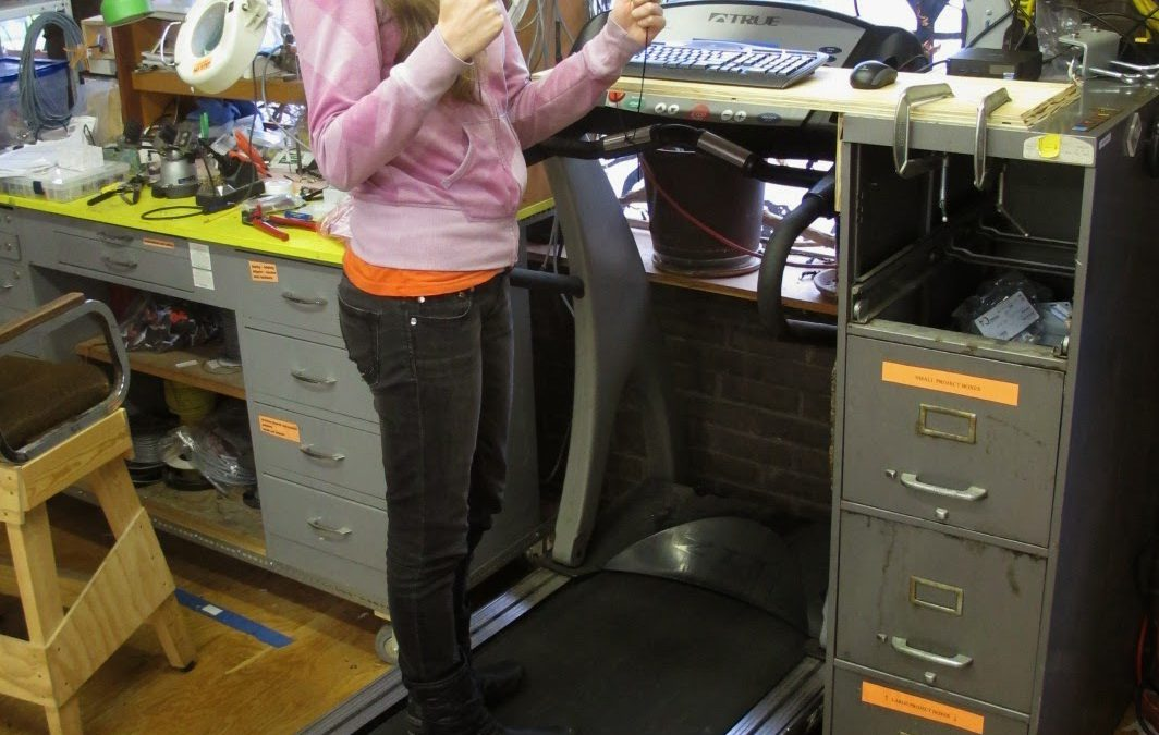 A treadmill desk for LRRD!