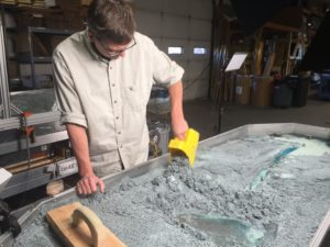 Photo of Steve Grimmer working with the Em3 Stream Table