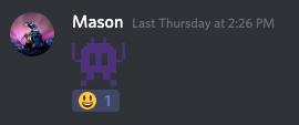 A screenshot of Mason on group chat.